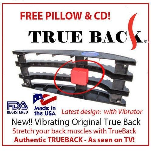 True Back Back Pain Relief Traction Device New Vibrating